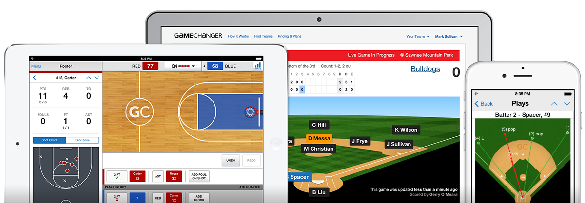 Basketball, baseball, and softball free scorekeeping app